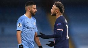L'altercation entre Neymar et Mahrez © DR