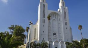 Cathédrale du Sacré-Cœur construite à Casablanca en 1930 par l'architecte Paul Tournon. Cet ancien sanctuaire catholique accueille aujourd'hui expositions et manifestations culturelles © DEGAS JEAN-PIERRE / HEMIS.FR