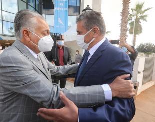 Le chef du gouvernement Aziz Akhannouch en compagnie du S.G du PPS, Nabil Benabdellah © DR