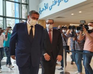 Le chef du gouvernement désigné Aziz Akhannouch aux côtés de Mohand Laenser, chef du parti du MP © DR