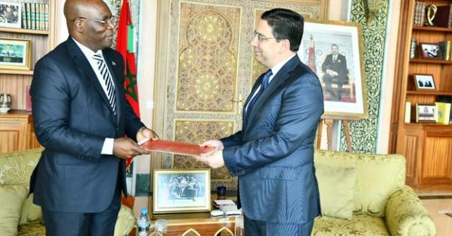 Nasser Bourita et Simeón Oyono Esono Angue