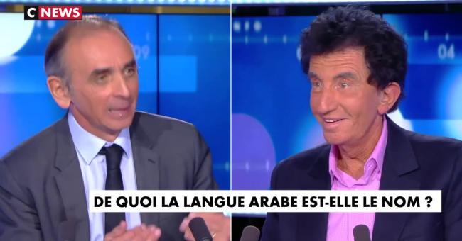 Zemmour et Lang débattent sur la langue arabe