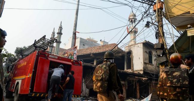 mosquée attaquée à New Delhi