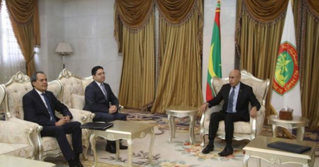 Nasser Bourita et le président mauritanien