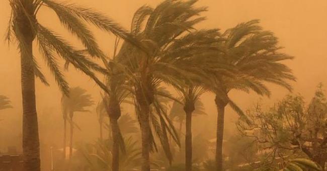 tempête de sable aux Îles Canaries