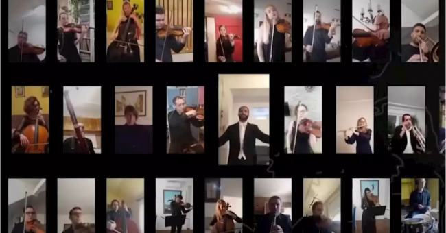 """29 musiciens jouent """"Bella Ciao"""" pour les Italiens"""