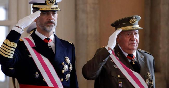 Felipe VI et Juan Carlos