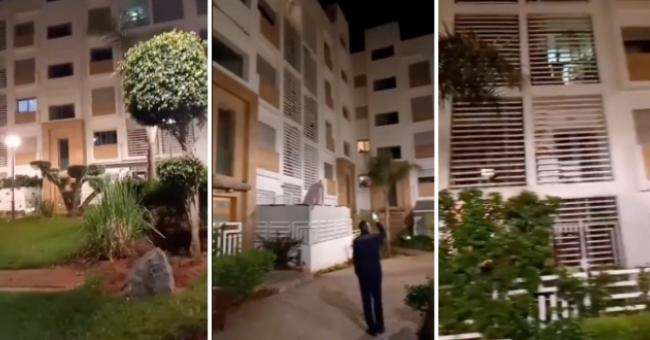 Des Marocains chantent l'hymne national au balcon