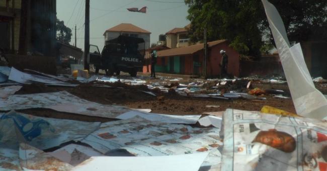 journée de vote marquée par des violences en guinée