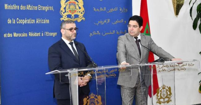 Khaled Al-Mishri et Nasser Bourita
