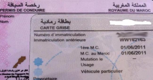 permis de conduire et carte grise