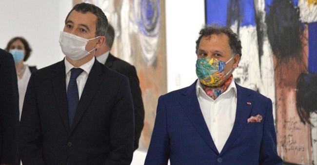 Gérald Darmanin au Musée Mohammed VI d'art moderne et contemporain