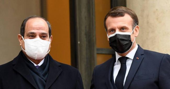 Emmanuel Macron reçoit le président égyptien Abdel Fattah al-Sissi à l'Élysée