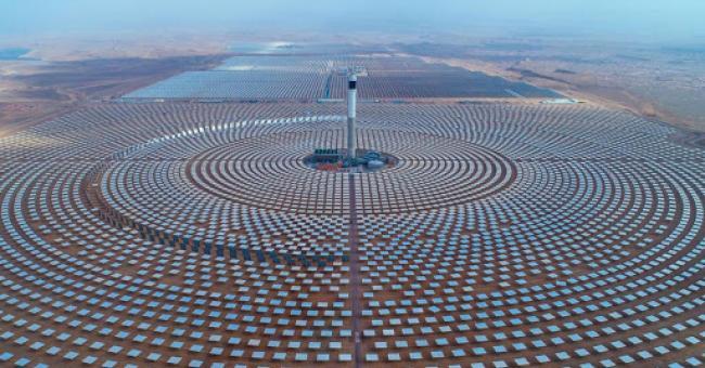 Une partie de la centrale solaire Noor, Ouarzazate © DR