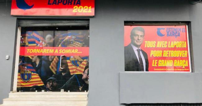 Joan Laporta, candidat à la présidence du FC Barcelone