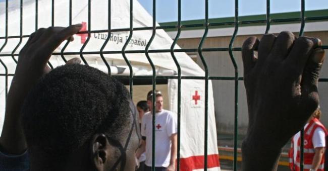 Les migrants ayant tenté de franchir la clôture entre le Maroc de l'Espagne © AFP