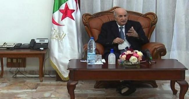 Le président Tebboune à son retour à Alger le 29 décembre 2020 © DR