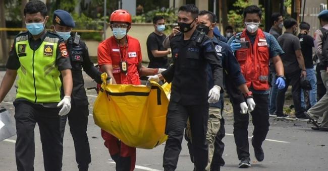 Une explosion s'est produite dimanche près de la cathédrale de la ville indonésienne de Makassar © AFP