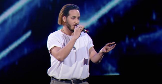 Naram, un Marocain âgé de 25 ans, lors de son audition à l'aveugle