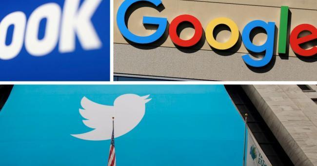 Google, Facebook et Twitter