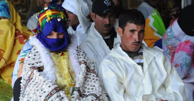 Mariage berbère dans un village d'Imilchil, dans le Haut Atlas en 2010 © AFP