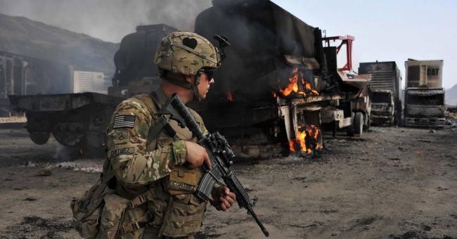 Un membre de l'armée américaine en Afghanistan © AFP