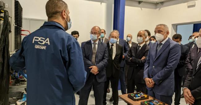Moulay Hafid Elalamy, ministre de l'Industrie, du Commerce et de l'Économie verte et numérique, lors de la cérémonie d'inauguration du CETIEV 2.0, le 9 avril au complexe des centres techniques industriels à Casablanca