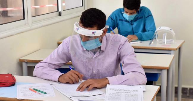 Photo prise lors de la session ordinaire de l'examen national unifié du baccalauréat 2020 © DR