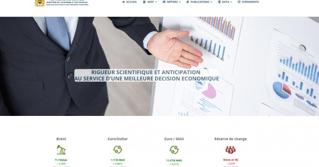 Site web de la Direction des Études et des Prévisions financières © Capture d'écran