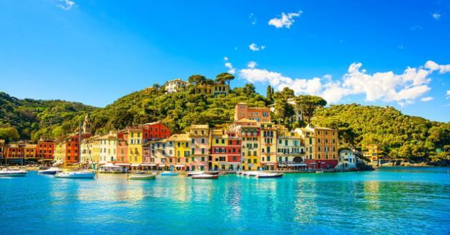 Portofino, une commune de la ville métropolitaine de Gênes dans la région de Ligurie en Italie © DR