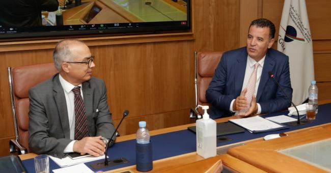 Chakib Benmoussa ce jeudi matin en compagnie du président de la CGEM, Chakib El Alj ©DR