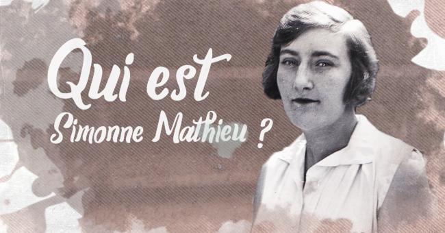Simonne Mathieu, joueuse de tennis française © DR
