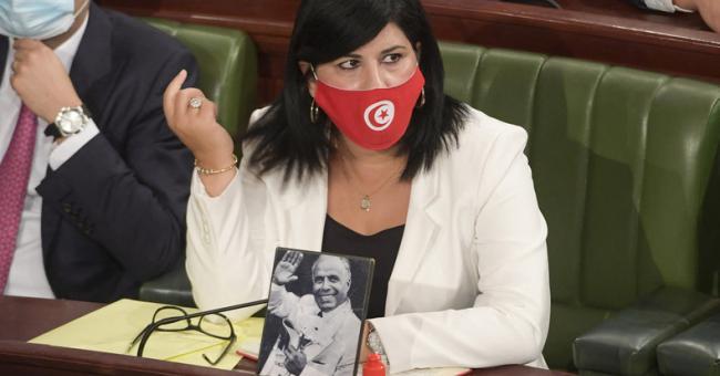 La députée Abir Moussi, présidente du parti Destourien Libre © DR