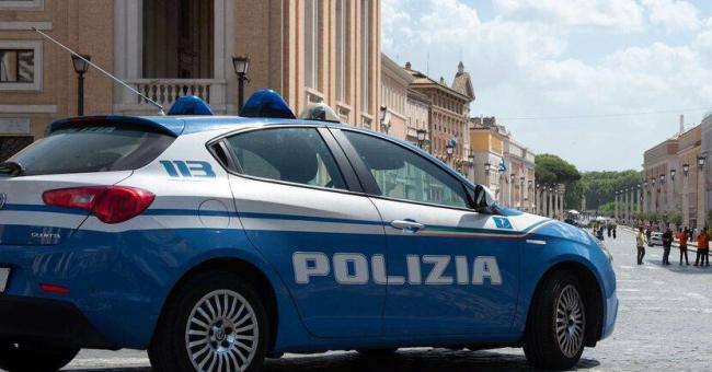 Une voiture de police italienne (illustration) © Louise MERESSE/SIPA