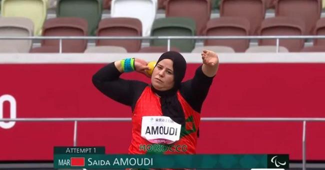 La championne Saïda Amoudi (41 ans) décroche la médaille de bronze au lancer de poids (F34) aux Jeux Paralympiques de Tokyo © DR
