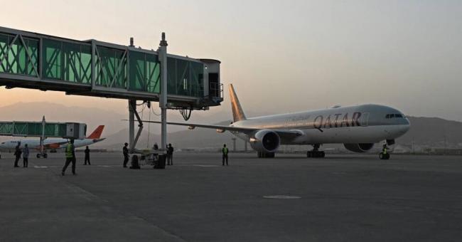 Sur le tarmac de l'aéroport de Kaboul, le 9 septembre 2021 © AFP