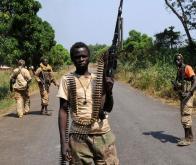 Des rebelles dans la région de Bambari © DR