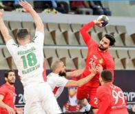 L'équipe marocaine de handball n'a pas réussi à maintenir son avantage après la mi-temps © DR