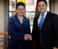 Nasser Bourita, ministre des Affaires étrangères, et son homologue espagnole, Arancha González Laya