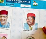 Les deux candidats : Mohamed Bazoum et son opposant Mahamane Ousmane © AFP