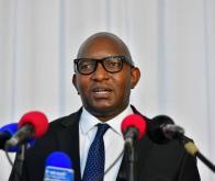 Le Premier ministre Jean-Michel Sama Lukonde lors de sa première déclaration devant les médias après son entretien avec le chef de l'État le 15/02/2021. Photo Présidence RDC