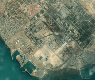 Vue aérienne de la centrale de Bouchehr, en Iran, le 8 janvier 2020 © AFP