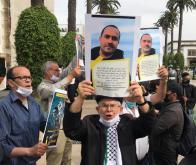Manifestation de soutien au journaliste Soulaimane Raissouni devant le Parlement, à Rabat, le 25 mai 2021 © Reuters