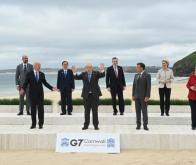 Les dirigeants du G7, le 12 juin 2021 à Cornwall, au Royaume-Uni © AFP
