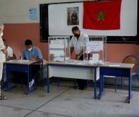 Un bureau de vote à Casablanca, le 8 septembre 2021 © Abdelhak Balhaki, Reuters