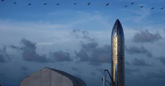 Un prototype Starship à Texas © AFP - SPACEX / AFP