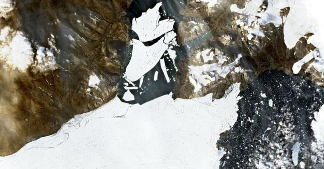 Un glacier d'Arctique a perdu 113 km2 de glace