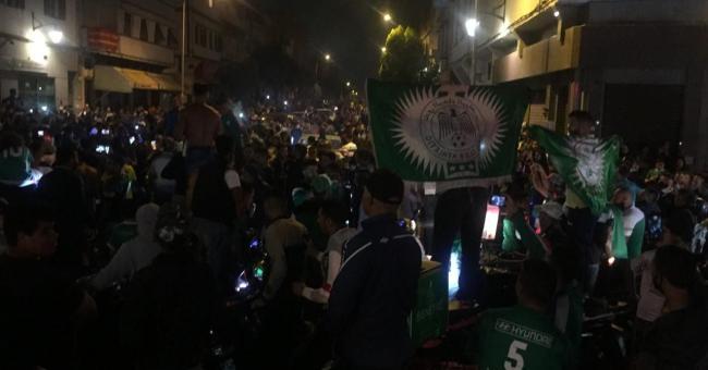 Les Rajaouis célèbrent la victoire de leur équipe