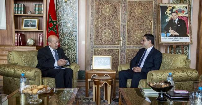 Fin de la visite de Le Drian au Maroc