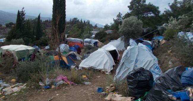 camp de migrants de l'île de Samos